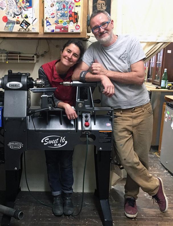 Melissa Engler and Graeme Priddle in their Grovewood Village studio.
