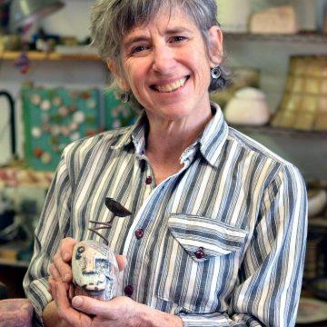 Asheville ceramic artist Lisa Gluckin in her Grovewood Village studio.