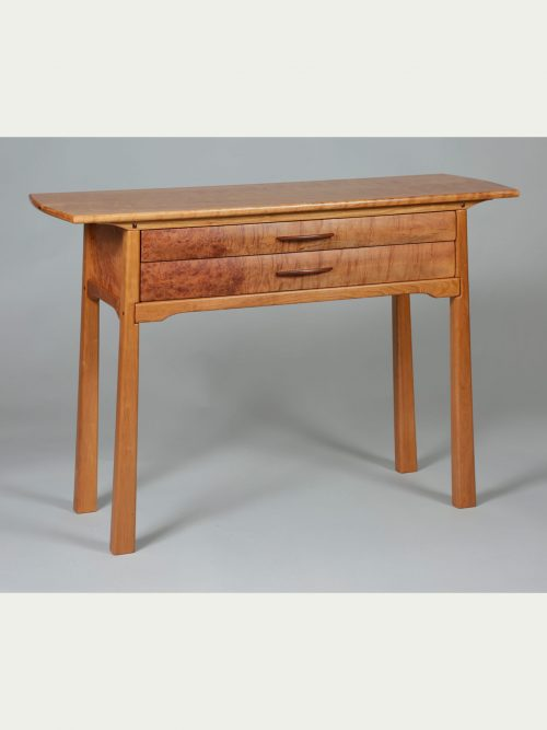 Two drawer console table handcrafted by Don Gautheir.