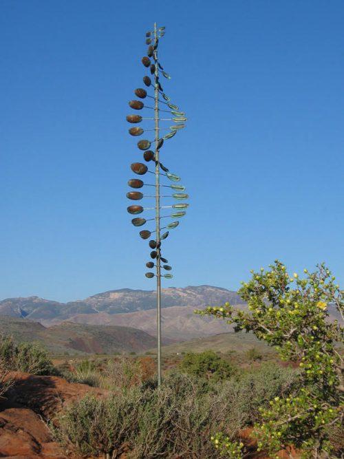 Bean Pole Wind Sculpture handmade by Utah artist Lyman Whitaker.