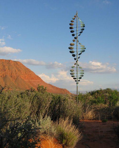Bean Pole Wind Sculpture by Lyman Whitaker.