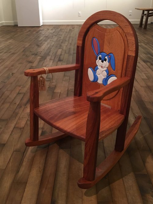 Bunny toddler rocker by North Carolina woodworker Joe Godfrey.
