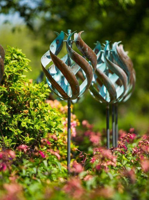 Tulip Wind Sculpture by Utah artist Lyman Whitaker.
