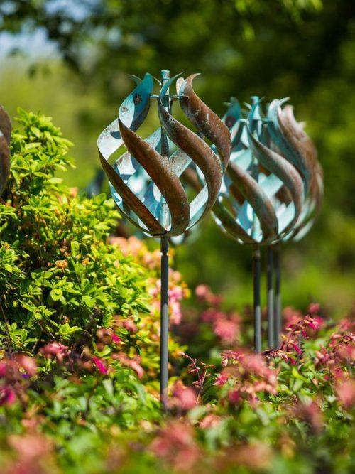 Tulip Wind Sculpture by Utah artist Lyman Whitaker.