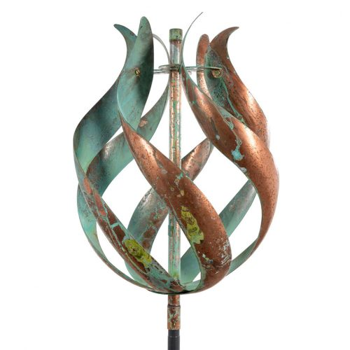 Tulip wind sculpture by Lyman Whitaker.