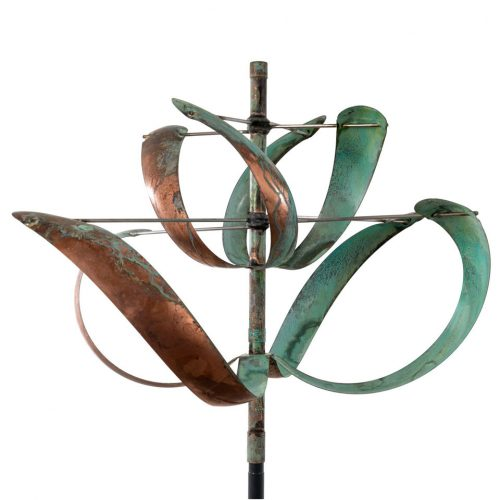 Detail of a Windflower wind sculpture by Lyman Whitaker.