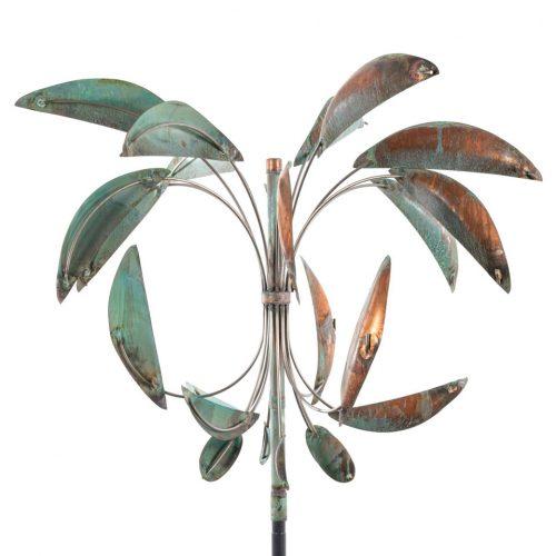 Detail of a Desert Palm Wind Sculpture by Lyman Whitaker.