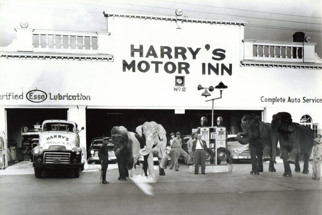 Archival photo of Harry's Motor Inn #2 on Haywood Street in downtown Asheville.