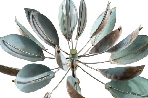 Detail of a Lotus Wind Sculpture by Lyman Whitaker.