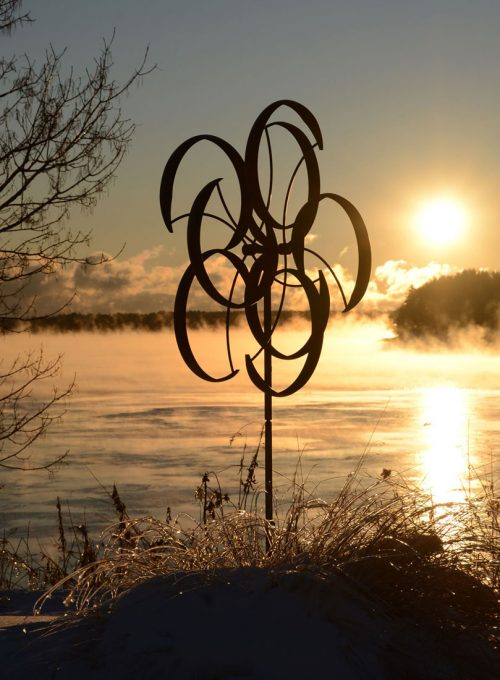 Counterpoint Wind Sculpture handcrafted by Utah artist Lyman Whitaker.