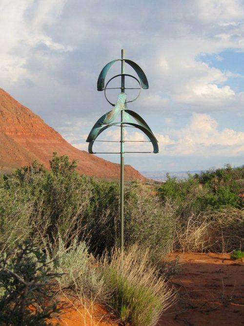 Eclipse Wind Sculpture by Utah artist Lyman Whitaker.