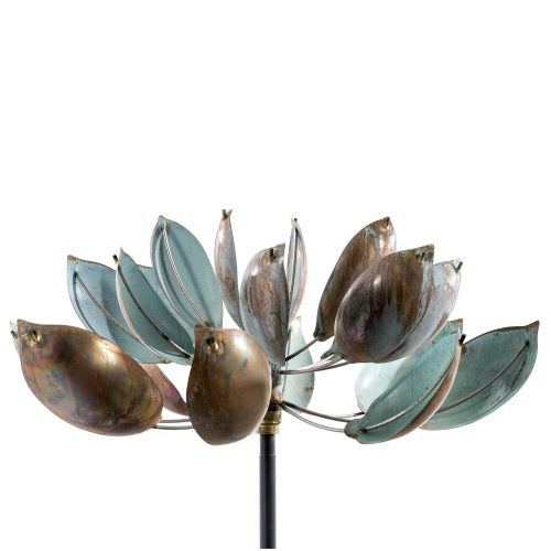 Detail of Lyman Whitaker's Lotus Wind Sculpture.