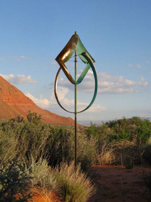 Schooner Wind Sculpture by Lyman Whitaker.
