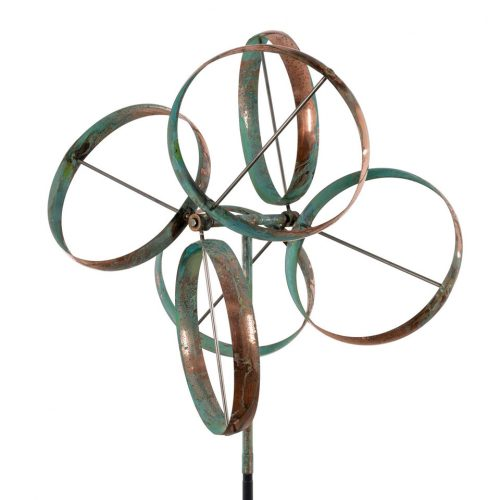 Detail of a Shamrock Wind Sculpture by Lyman Whitaker.
