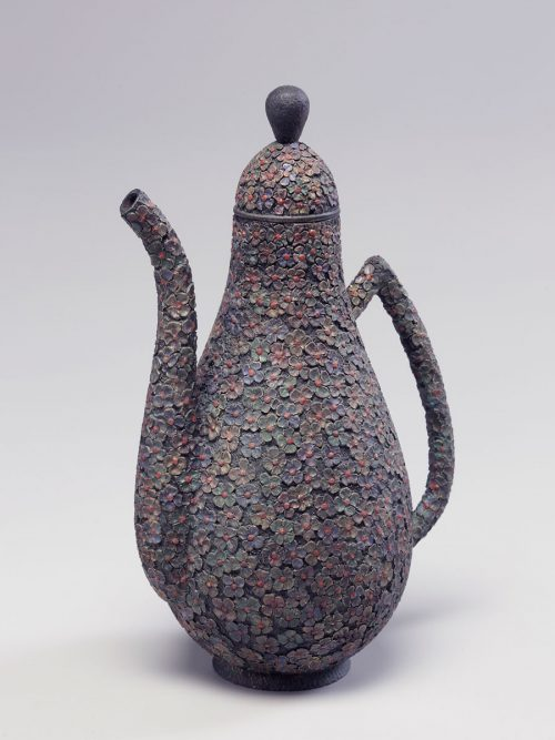 Desire teapot sculpture by Idaho wood artist Jim Christiansen.