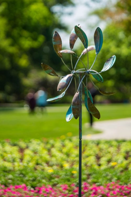 Double Spinner Wind Sculpture by Lyman Whitaker.
