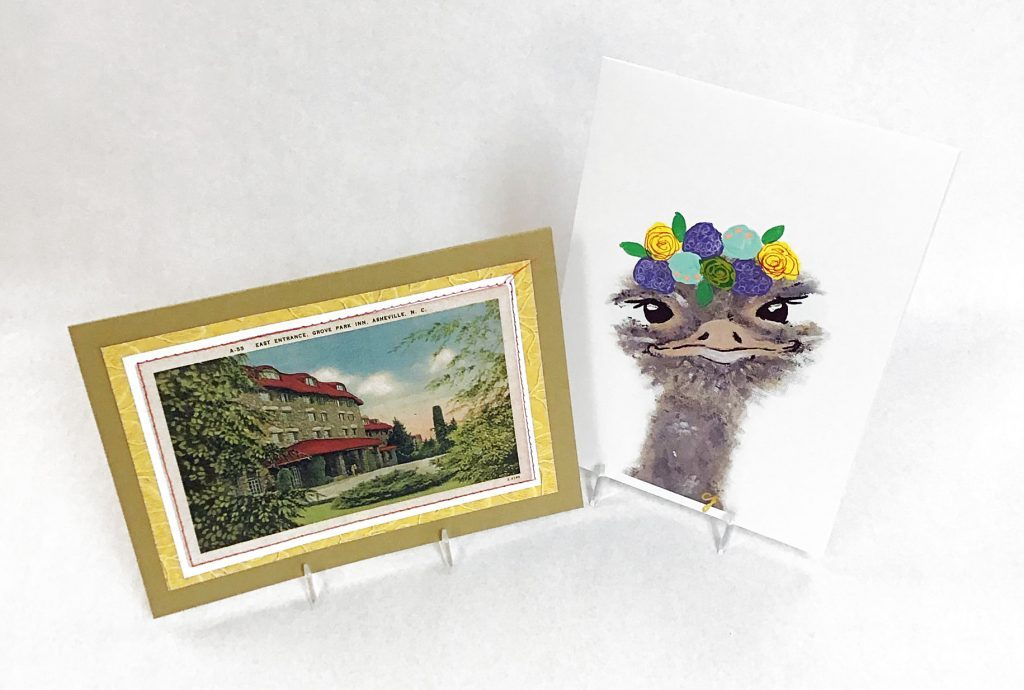 Greeting cards by Joni Lewis and Claire Jordan.