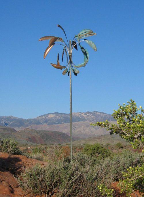 Desert Palm Wind Sculpture by Lyman Whitaker.