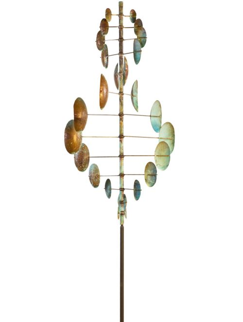 Double Helix Vertical Wind Sculpture by Utah artist Lyman Whitaker.