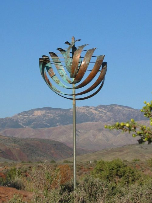 Nautilus Wind Sculpture by Utah artist Lyman Whitaker.