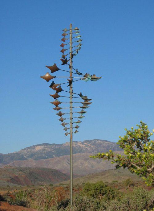 Twister Star Wind Sculpture handcrafted by Utah artist Lyman Whitaker.