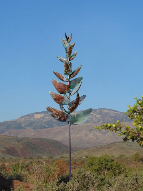 Red Ginger kinetic wind sculpture by Lyman Whitaker.