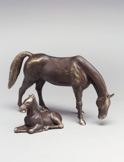 Bronze horse sculptures handcrafted by Scott Nelles.