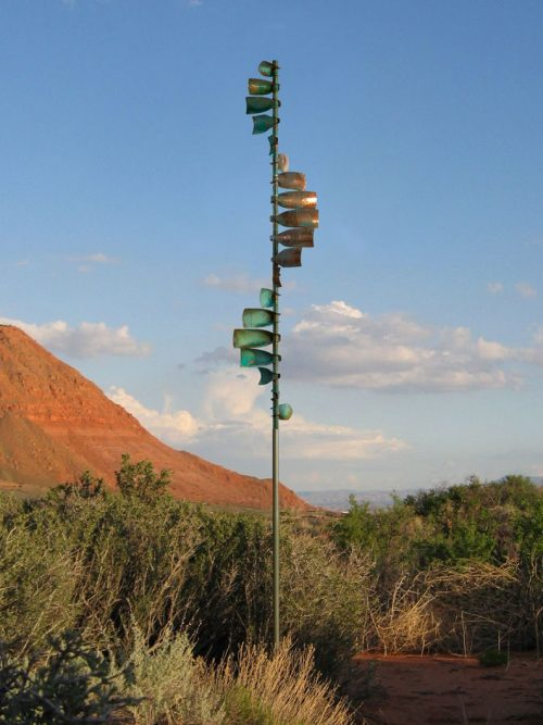 Wave Wind Sculpture by Lyman Whitaker.
