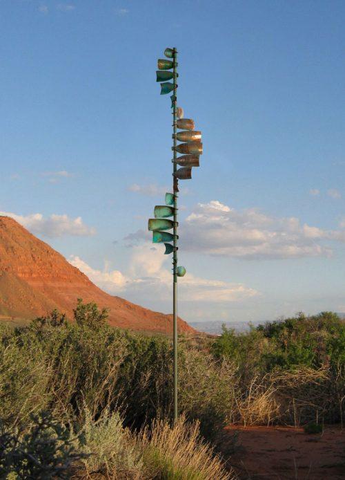Wave Wind Sculpture by Lyman Whitaker.