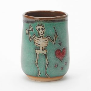 Blackbeard pirate cup handmade by Hog Hill Pottery in North Carolina.