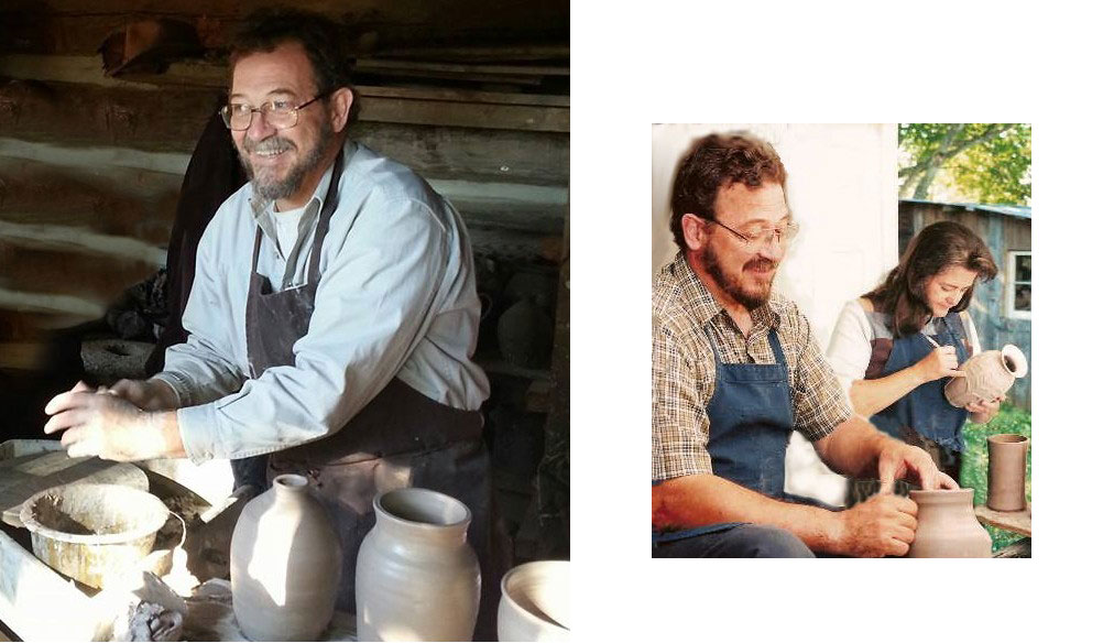 John and Scottie Post of Hog Hill Pottery working in their North Carolina studio.