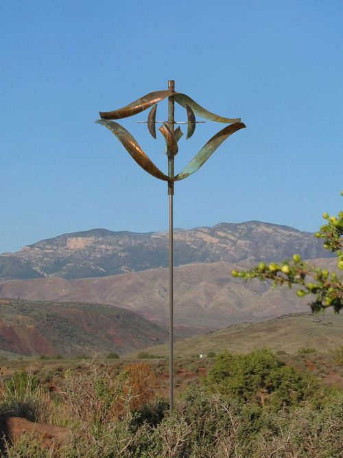 Fire wind sculpture by Lyman Whitaker.