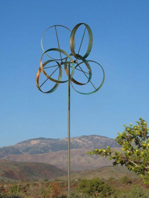 Shamrock Wind Sculpture by Lyman Whitaker.