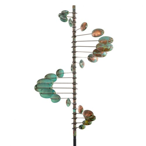 Detail of a Single Helix Oval Wind Sculpture by Lyman Whitaker.