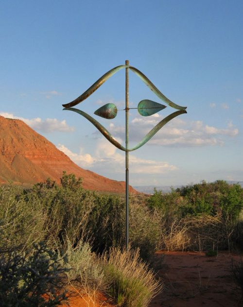 Stream Wind Sculpture by Utah artist Lyman Whitaker.