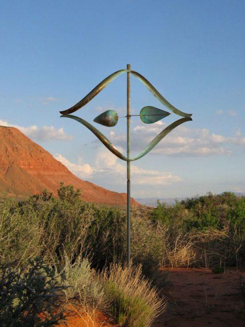 Stream Wind Sculpture by Utah artist Lyman Whitaker.