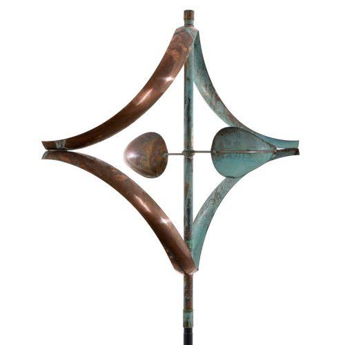 Detail of a Stream Wind Sculpture by artist Lyman Whitaker.