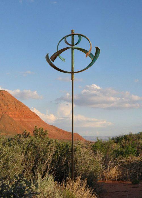 Water Wind Sculpture by Utah artist Lyman Whitaker.