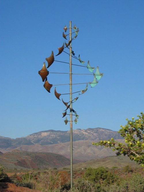 Star Dancer Vertical Wind Sculpture by Lyman Whitaker.