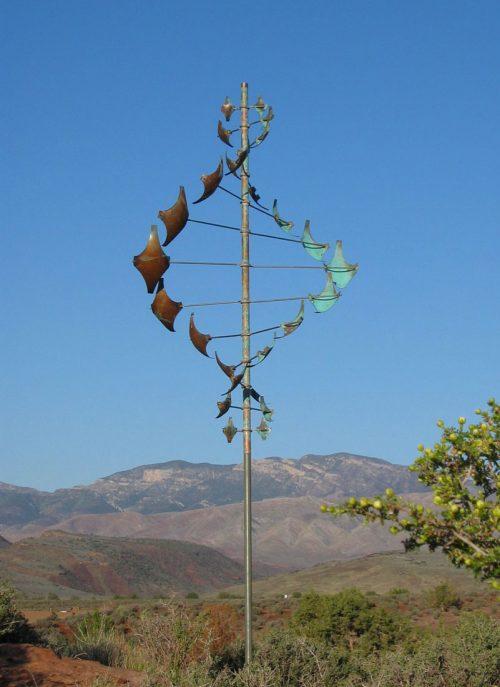 Star Dancer Vertical Wind Sculpture by Lyman Whitaker.