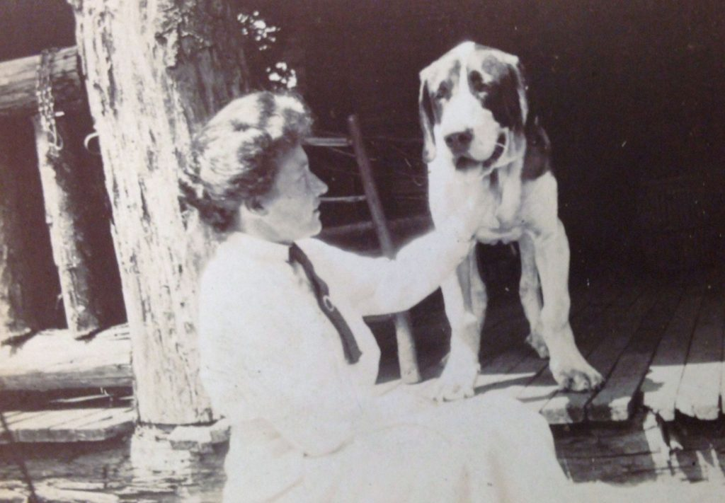 Eleanor Park Vance with George and Edith Vanderbilt's dog, Cedric.
