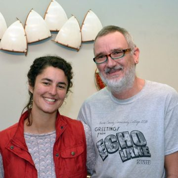 Asheville artists Melissa Engler and Graeme Priddle in their Grovewood Village studio.