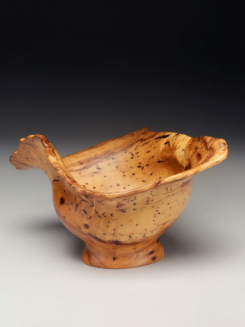 Spalted hickory bowl by Tennessee woodworker Jim Madden.
