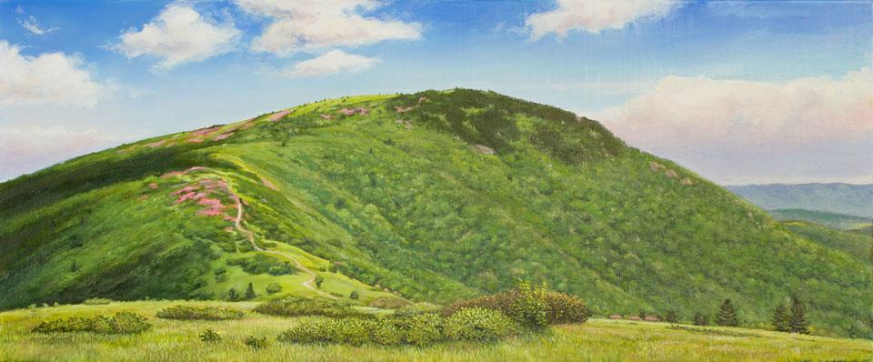 Landscape oil painting by Asheville artist Bryan Koontz.