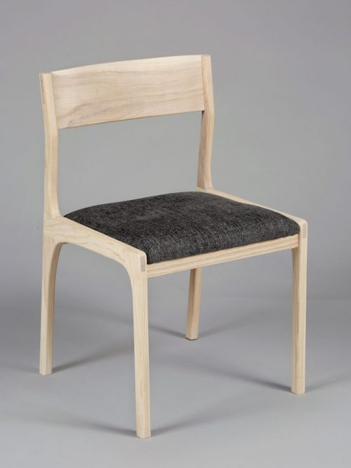 Ash dining chair handcrafted by Asheville furniture maker Andrew Stack.