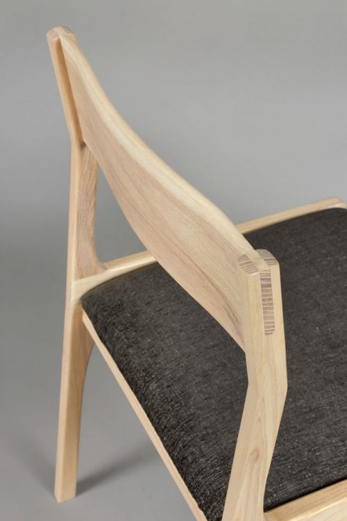 Ash dining chair by Andrew Stack.