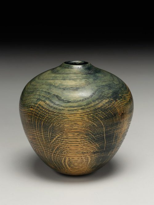 Hollow vessel by wood artist Andy DiPietro.