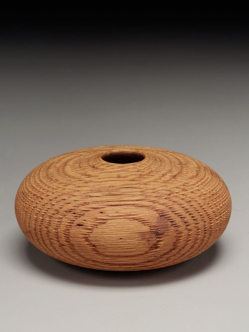 Hollow oak sculptural vessel by artist Andy DiPietro.