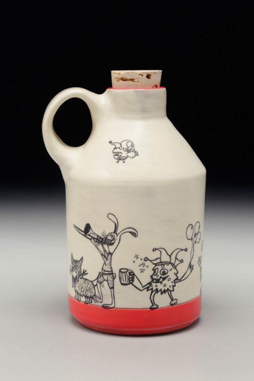Ceramic whiskey jug by studio potter Erik Haagensen.