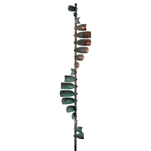 Detail of a Wave wind sculpture by Lyman Whitaker.
